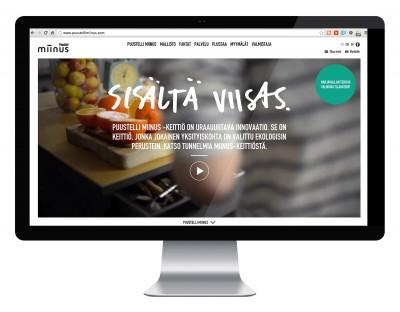 Puustelli Miinus – verkkosivuston suunnittelu