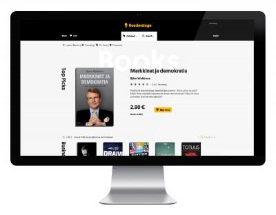 Readerstage – responsiivisen verkkosivuston visuaalinen suunnittelu